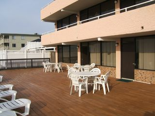 Cherry Grove Beach condo photo - Nellie's nook deck leads right to the beach
