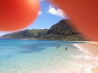 Makaha house photo - In the summer months the waves are gentle and water beautiful.