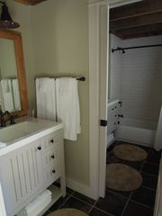 Woodstock house photo - Halve bath can be closed off with pocket door from main bathroom.