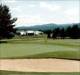 View of Village Green from the Tenth at the Stowe Country Club