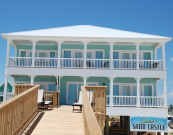 Fort Morgan house rental - Porch and Balcony overlooking Beach