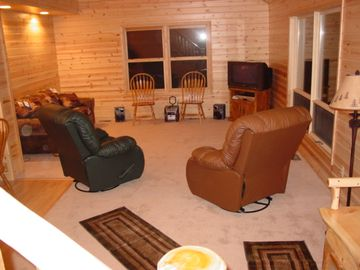 Livingroom with all the comforts of home.