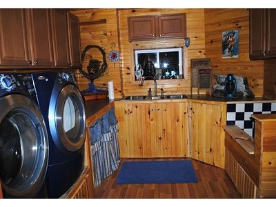 Laundry Room in Main House  lower level apartment