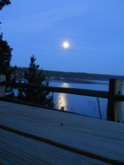 Allegan house photo - Full Moon from Bluff overlooking Lake Allegan