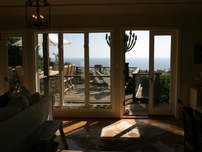 The spectacular ocean view just inside of our front door.