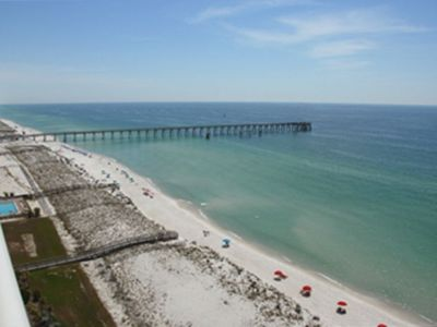 East Balcony view showing Florida's longest pier (opened 6/5/10)
