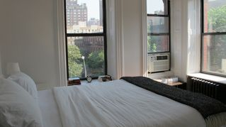 West Village apartment photo - Morning light. Three hugh windows - views of sky and landmark building!
