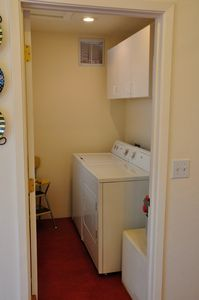 Laundry room off the kitchen