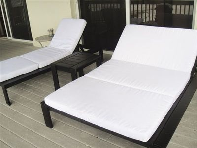 Double chaise and single chaise