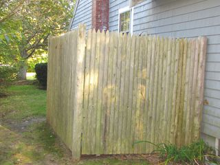 Mashpee house photo - Take a refreshing private hot-water outdoor shower after the beach!