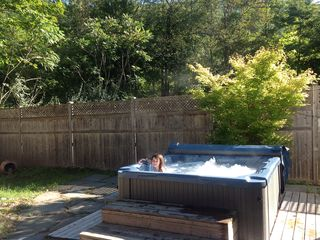 Phoenicia house photo - Six person hot tub if you rent our cottage at the back of our property. Ask!
