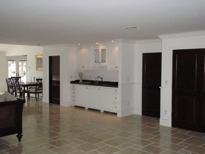 Great Room with wet bar and refrigerator