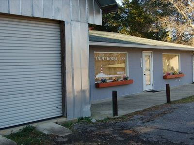 Lucy's has a storage building to secure your property with electric outlets.