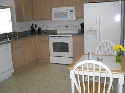 Large kitchen with new appliances