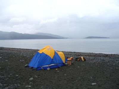 Camping on Homer Spit