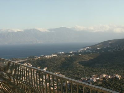 Mirabello bay and Sitian mountains from balcony