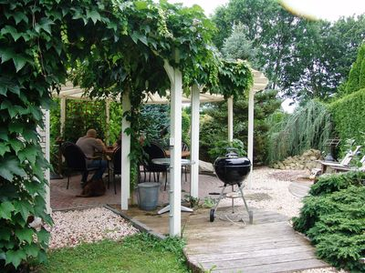 Very comfortable house with wonderful garden and privacy .!