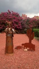 Sedona house photo - Metal Art before the rain in Uptown Sedona!