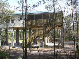 Suwannee River house photo - Watch the Suwannee River from your back porch