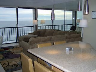 Pacific Beach condo photo - View of Living Room from the Eat-In Kitchen