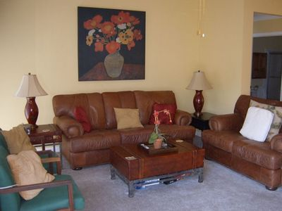 "The Family room includes a 50"" television with Direct TV"