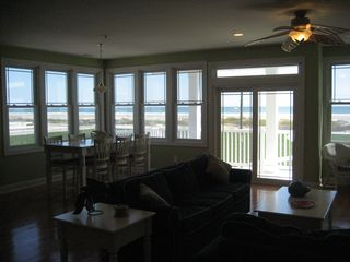 Wildwood Crest condo photo - DR, LR and Ocean view