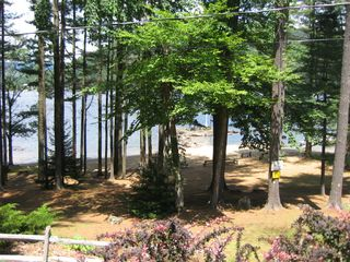 Hadley property rental photo - View from Cabin Deck to Beach