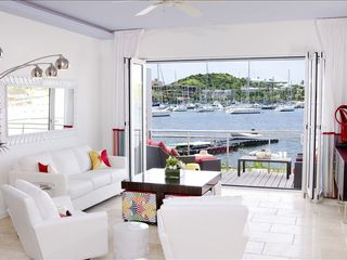Dawn Beach house photo - View of marina from living room.