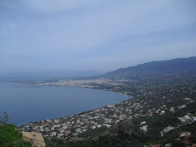 View over Kalamata bay taken from house