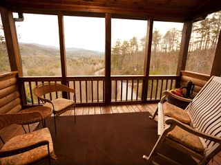 Blue Ridge cabin photo - Top Deck Screen Porch & VIEWS!