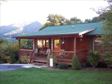 Maggie Valley cabin rental - Come sit on the porch awhile and enjoy the view.