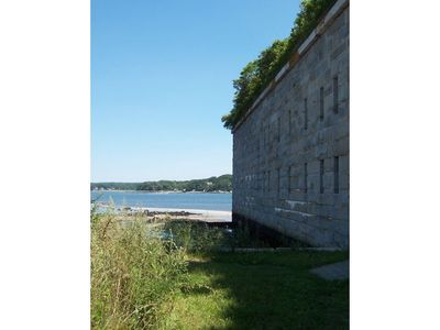 Falmouth cottage rental - Casco Bay offers many kayaking destinations such as this historic island fort.