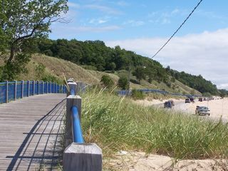 Muskegon cottage photo - Bike or walk along the elevated beach trail