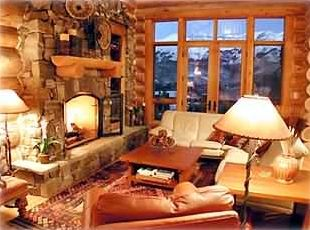 Spend cozy evenings by the fireplace