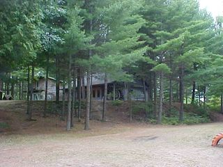 Kalkaska cottage photo - Cottage from picnic & swimming area