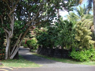 Kapoho house rental - Warm Springs entrance