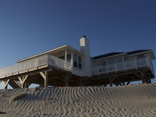 Galveston house photo - Porch going over the dune to the beach