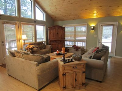Great room with HUGE windows for soaking up the views - Pagosa Vacation Home
