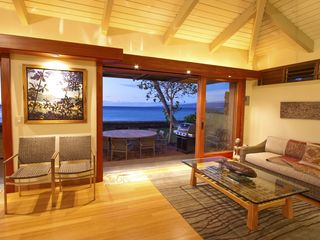 Puako house photo - Additional living room seating at sunset