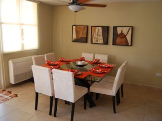 Aguadilla apartment photo - Comfort seating and tableware for 8 people w/ A/C!