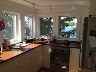Portsmouth house photo - Galley kitchen with views onto three sides of the harbor