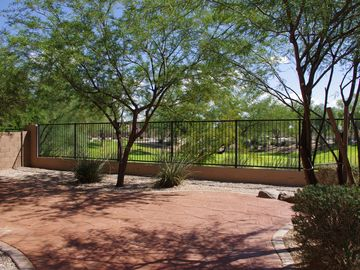 San Tan Valley house rental - Patio area with view thru fence to green belt area.