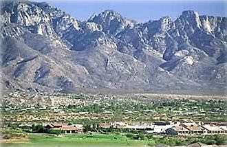 Look at  the spectacular Catalina Mountains!