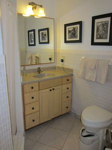 Great Exuma cottage rental - Bathroom with shower and composting toilet.