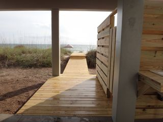 Mexico Beach house photo - Boardwalk to beach might be 30 feet long