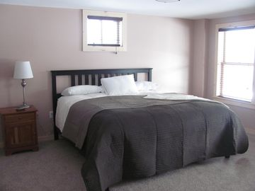 Lower level bedroom, with king size bed and full bath with shower !