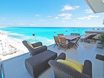 Cancun condo rental - Penthouse #3730 - Terrace Area