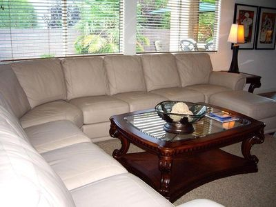 large couch in Famiy Room
