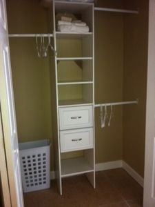 studio closet with organizer