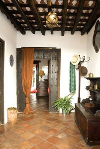 The zaguan, traditional entrance hall to the house.